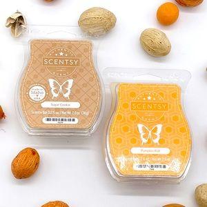 Scentsy Scent Wax Bars Sugar Pumpkin Roll Bundle